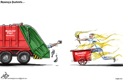 Morocco Protests by Osama Hajjaj