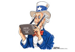 Uncle Sam Relives Nasty 2016 Election Campaign in Virtual Reality- by RJ Matson