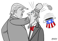 Trump, Uncle Sam by Rainer Hachfeld