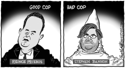 Priebus and Bannon by Bob Englehart