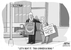 Bill and Hillary Clinton on Wall Street Today by RJ Matson