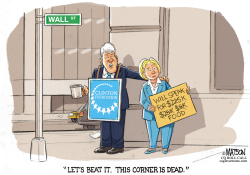 Bill and Hillary Clinton on Wall Street Today- by RJ Matson