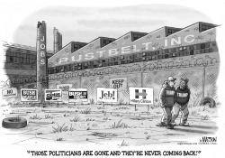 Like Rustbelt Jobs Clintons and Bushes Are Gone and Never Coming Back by RJ Matson