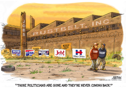 Like Rustbelt Jobs Clintons and Bushes Are Gone and Never Coming Back- by RJ Matson