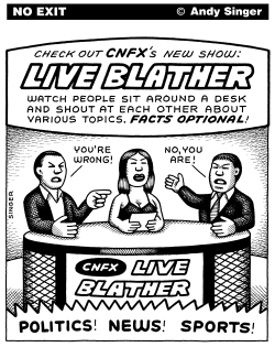 Television Talk Shows by Andy Singer