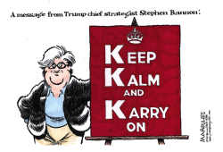 Trump chief strategist Stephen Bannon color by Jimmy Margulies