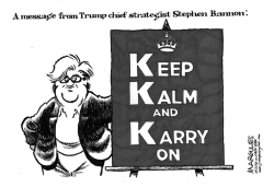 Trump chief strategist Stephen Bannon by Jimmy Margulies