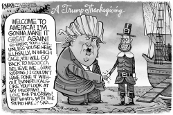 Trump Thanksgiving by Rick McKee