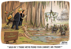Trump Drains The Swamp Looking for People to Appoint to his Cabinet- by RJ Matson