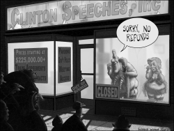 Clinton Speeches Foundation Greyscale by Sean Delonas