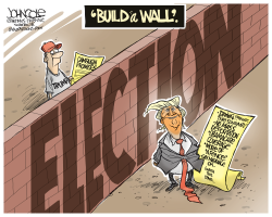 Trump's new wall by John Cole