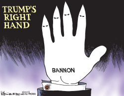 Trumps Right Hand by Kevin Siers
