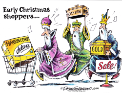 Early Christmas shoppers  by Dave Granlund