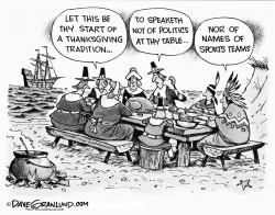 Thanksgiving etiquette by Dave Granlund