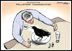 Pollsters Thanksgiving Eating Crow by J.D. Crowe