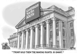 US Treasury Department Is Goldman Sachs South by RJ Matson