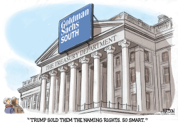 US Treasury Department Is Goldman Sachs South- by RJ Matson