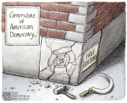 Russian interference  by Adam Zyglis