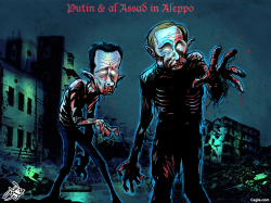 zombies in Aleppo by Osama Hajjaj