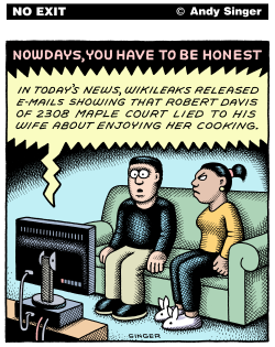 Wikileaks Gets Personal color version by Andy Singer