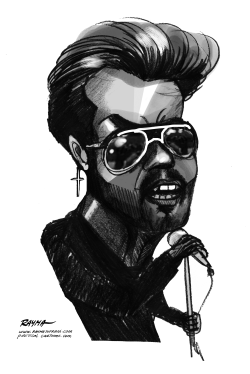 George Michael RIP BW by Rayma Suprani
