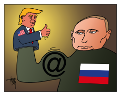 Putin and Trump by Arend Van Dam