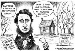Thoreau and tiny homes by Dave Granlund