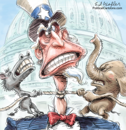 Uncle Sam Choked by Ed Wexler