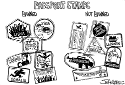 Immigration Ban by Joe Heller