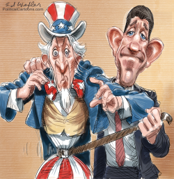 Paul Ryan and Uncle Sam by Ed Wexler
