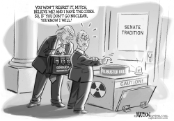 Senator Mitch McConnell Has His Finger On The Button by RJ Matson