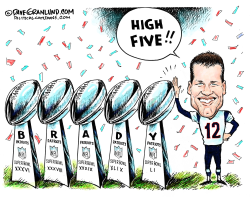 Patriots high 5  by Dave Granlund