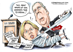 Sen Warren silenced by McConnell  by Dave Granlund