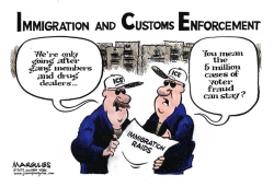 Immigration Raids color by Jimmy Margulies