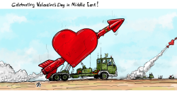 Celebrating Valentine's day by Emad Hajjaj