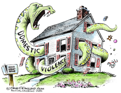 Domestic violence facade  by Dave Granlund