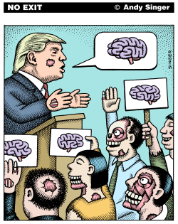 Zombie Trump color version by Andy Singer