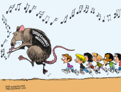 pied piper by Bill Schorr