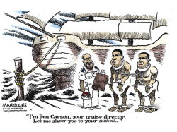 Ben Carson and slavery color by Jimmy Margulies