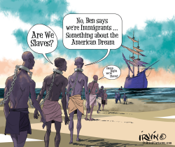 Slaving away at Immigration by Trevor Irvin