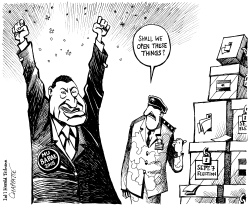 Mubarak Reelected by Patrick Chappatte