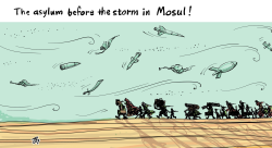 The asylum before the storm in Mosul by Emad Hajjaj
