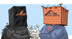 WallsMasks by Emad Hajjaj