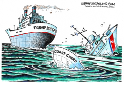 Coast Guard budget cuts  by Dave Granlund