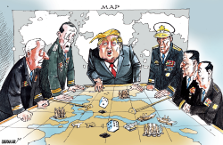 Trump in War Room by Sabir Nazar