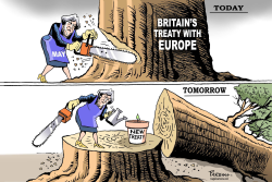 Britain's treaty with EU by Paresh Nath