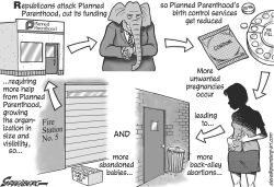 Planned Parenthood bw by Steve Greenberg