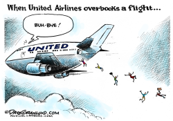 United Airlines overbooking by Dave Granlund