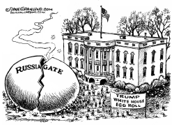 Trump White House egg roll by Dave Granlund