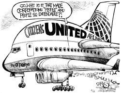 Citizens United Airline by John Darkow